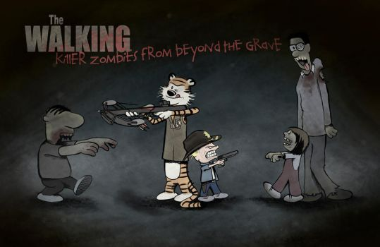 The Walking killer zombies from beyond the grave by wycoffsart