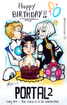 The cake is a lie - PORTAL 2 Anniversary by HeavenRose150