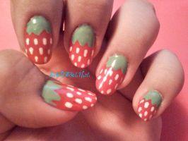 Strawberry Nails by SoCUTEicleNails