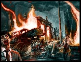 Zombie Apocalypse by DeDorgoth