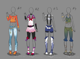 Some Outfit Adopts #3 - sold by Nahemii-san