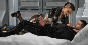 Mass Effect: My Eyes Are Up Here...Perv by Aceaviator