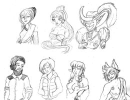 CS bust sketches by Unisamas-Art