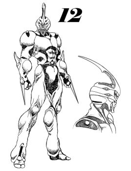 Guyver 12 Line art by lokicube