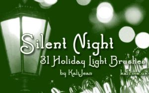 Silent Night: Holiday Brushes by kalijean
