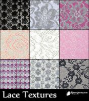 9 Free Lace Textures by ibjennyjenny