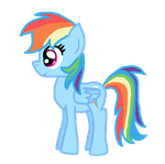 Rainbow dash (not traced and no base used) by kas6