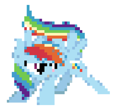Pixel Art: Rainbow Dash by FireboltIsBestPony
