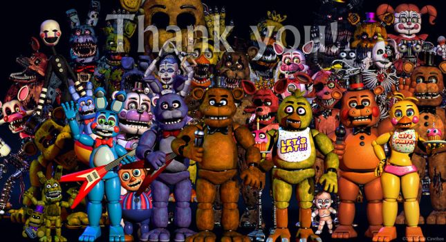 Thank You with Sister Location Animatronics by PrimeYT