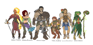 Dungeons And Dragons Character Line Up by Yaoi-Bear