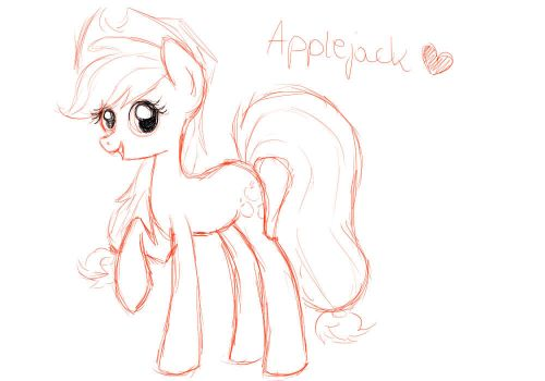 Quick Applecack sketch :D by Kluuusek