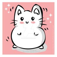 Marshmallow Kitty by miemie-chan3
