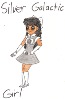 Me as 15 year old heroine: Silver Galactic Girl by Magic-Kristina-KW