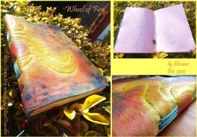 Leather Notebook 'Wheel of Fire' by Elescave