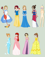 Disney Princess Collab: FULL by RabidDoller