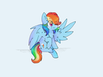 Rainbowdash - thank you gift by PinkFlutter