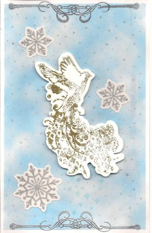 Snow Bird Card-gold version by Pearllight180