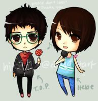 TOP and Hebe by hitotoki