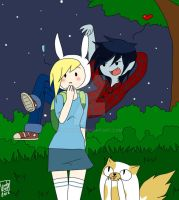 Marshall Lee: Fionna, you're so beautiful! by Lady2011