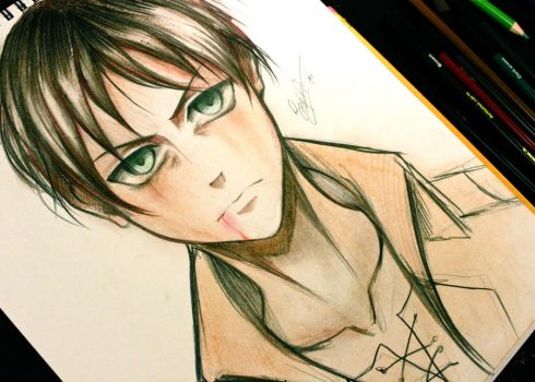 Eren - Attack on Titan by Sophie--Chan