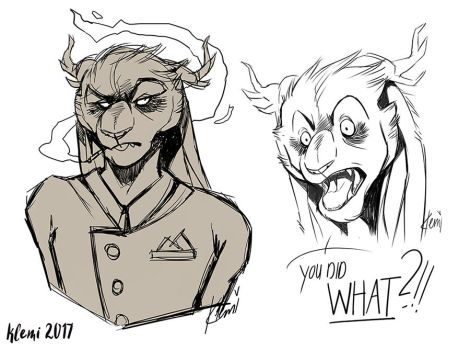 Oh Leo (Sketches) by CreepyRabbit