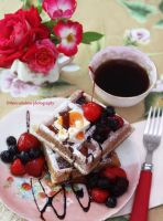 Homemade Belgian Waffles by theresahelmer