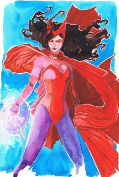 Scarlett Witch commission by ryuloulou