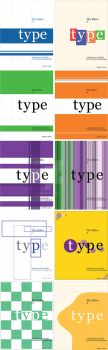 Type Color Roughs by Kimiski