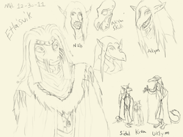 A page of doodles. Huzzah! by Markus-The-Madman