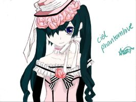 ciel - pink robbin by peppermintlight