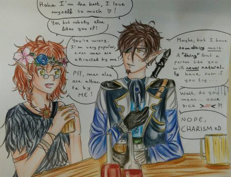 Daily Argument Between Two Stupid Friends by Edelia-Rebeis