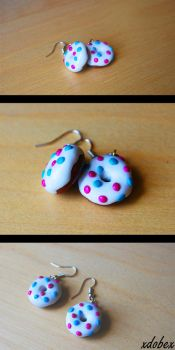 Donut earrings by xDobex