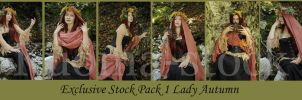 Lady Autumn Exclusive Stock Pack 1 by Kuoma-stock