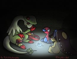 Commission:PMD Overthrown- Trapped in the Darkness by mystic-blat