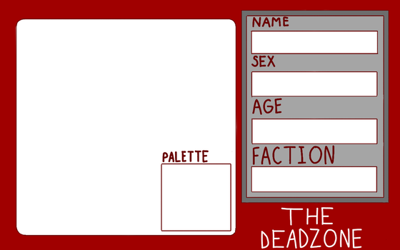 The Deadzone-  Blank Application Sheet by MicheleTheChaosCat