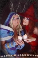 DotA 2 - Halloween - CM and Lina by MilliganVick
