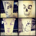 More Coffee Cup Sketches by TheQueenofSomething