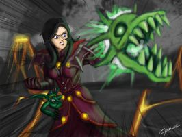 Human witch... err warlock? by OmegaClarens