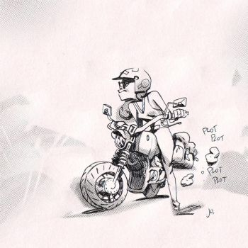 From now I just want to draw girls on bike forever by joslin