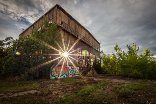Sunlight through old factory by kubinski078
