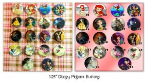 Disney Pinback Buttons by thedustyphoenix