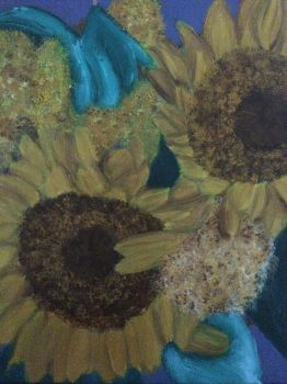 Sunflowers Still life in oil WIP by ArtisticPaintbrush
