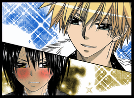 Color Page - Misaki and Usui by mariahmerry