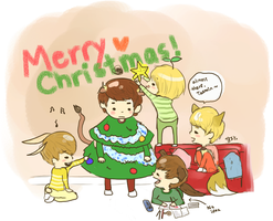 decorating minho, a shinee christmas by sumsoup