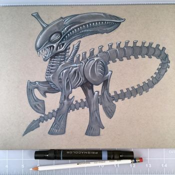 H. R. Giger's My Little Pony by D-MAC