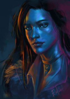 Yennefer colour study.  by leeart54