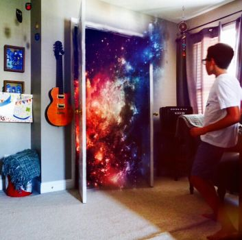 Galaxy in my closet by GrayScale23