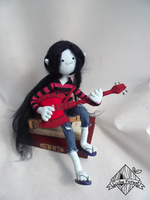 Marceline playing guitar by CubeForest