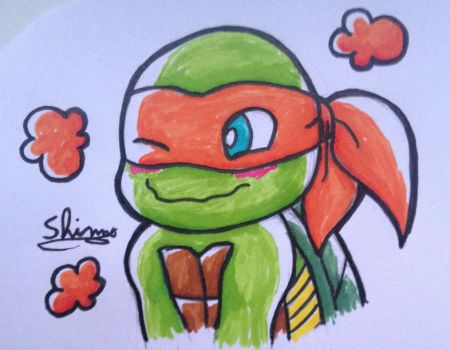 Tmnt- cute mikey by Shimo-shimory
