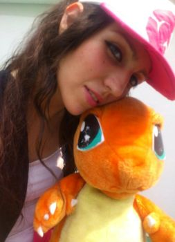 Touko and Charmander Pokemon Black White Cosplay by konohanauzumaki